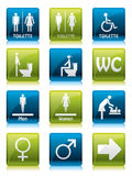 Toilette signs Royalty Free Stock Image