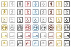 Toilette Signs and Symbols (small) royalty free stock image