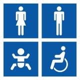 Toilette tecken Arkivbild