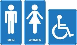 Toilette tecken vektor illustrationer