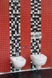 Toilette WC und Bidet lizenzfreies stockbild