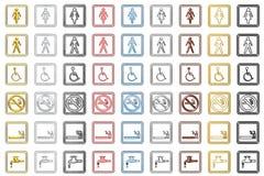 Toilette Zeichen und Symbole (klein) Lizenzfreies Stockbild