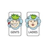 Toiletteken Royalty-vrije Stock Foto's