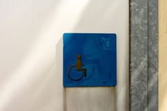 Toiletteken gehandicapte rolstoel royalty-vrije stock fotografie