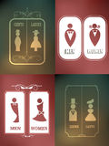 Toiletteken op onduidelijk beeld abstracte achtergrond Royalty-vrije Stock Foto's
