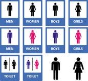 Toilettekens Royalty-vrije Stock Afbeeldingen