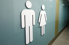 Toilettekens stock afbeelding