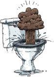 Toiletten-Explosion Lizenzfreie Stockfotos