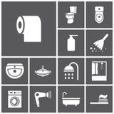 Toiletten-Ikonen lizenzfreie abbildung