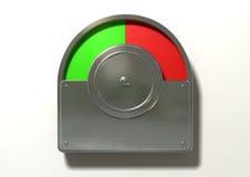 Toiletten-Indikatorrote und grüne Spalte Lizenzfreies Stockbild