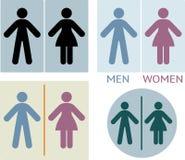 Toiletten- oder Toilettenzeichen Stockfotografie