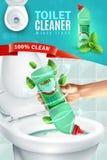 Toiletten-Reiniger-Anzeigen-Hintergrund lizenzfreie abbildung