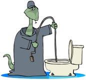 Toiletten-Schlange Lizenzfreie Stockbilder