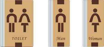 Toiletten-Zeichen Stockbilder
