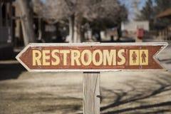 Toiletten-Zeichen Stockfoto