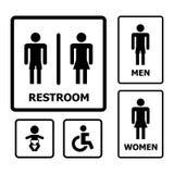 Toiletten-Zeichensatz Stockfotos