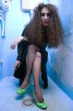 Toilettenfrau Stockfoto
