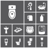Toilettenikonen stock abbildung