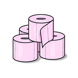 Toilettenpapier-Abbildung Stockbild