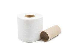 Toilettenpapier getrennt Lizenzfreies Stockbild