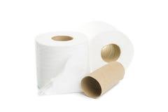 Toilettenpapier getrennt Lizenzfreie Stockfotos