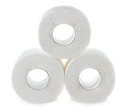 Toilettenpapier getrennt auf Weiß Lizenzfreie Stockbilder