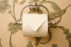 Toilettenpapier-Halterung stockbild