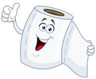 Toilettenpapierkarikatur Lizenzfreies Stockfoto
