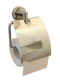 Toilettenpapierrolle mit Halterung lizenzfreies stockbild