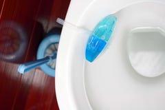 Toilettenreinigung Stockfoto