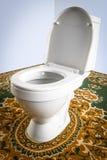 Toilettenschüsselnahaufnahme Stockfotografie