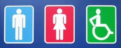 Toilettenteken Royalty-vrije Stock Foto