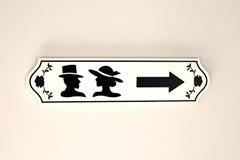 Toilettenzeichen Lizenzfreies Stockfoto