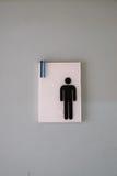 Toilettenzeichenmann Stockfotos