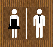 Toilettes d'homme et de femme de vecteur Photographie stock