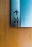 Toilettes de signe Image libre de droits