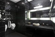 Toilettes noires et blanches Photos libres de droits