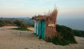 Toilettes portatives Photo libre de droits