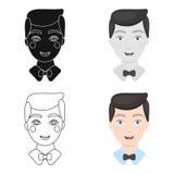 Toilettez l'icône d'homme de l'illustration de vecteur pour le Web et le mobile illustration de vecteur