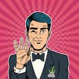 Toilettez la sécurité d'Internet de bande dessinée d'art de bruit, baniking en ligne illustration de vecteur