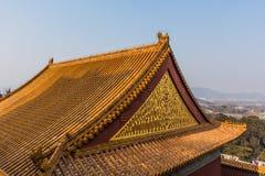 Toit antique et de chinois traditionnel image libre de droits