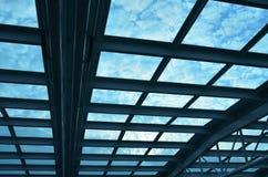 Toit bleu Photographie stock libre de droits