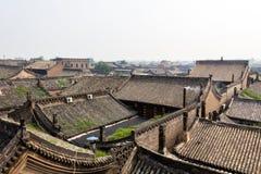 Toit carrelé de la ville antique de Pingyao, province de Shanxi, Chine image libre de droits