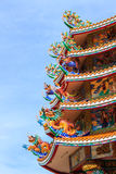 Toit chinois coloré de temple Image stock