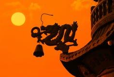 Toit chinois de dragon image stock