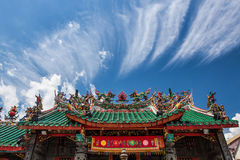 Toit chinois de temple Photo stock