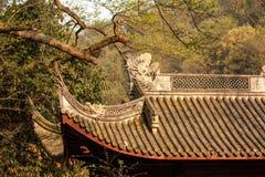 Toit chinois de temple Photographie stock