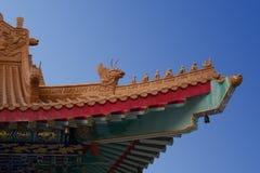 Toit chinois de temple Image stock