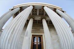 Toit d'académie d'Athènes image libre de droits