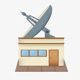Toit d'antenne parabolique illustration stock